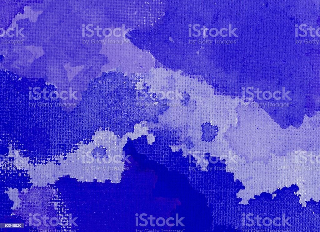 Blue Abstract Painting stock photo