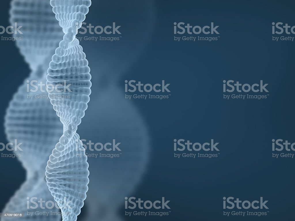 DNA - blue abstract scientific background stock photo