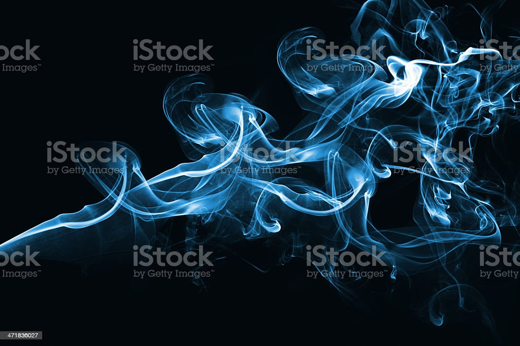 Blue abstract smoke design royalty-free stock photo