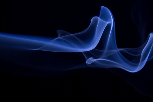 Blue abstract smoke on black background