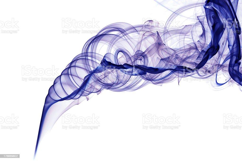 Blue abstract smoke royalty-free stock photo