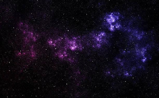 Blue abstract star nebula stock photo