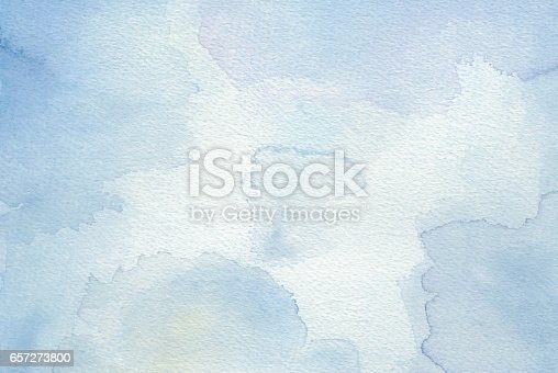 istock Blue abstract watercolor background 657273800