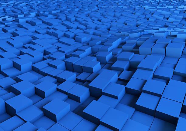 Blue abstrakte Wellen – Foto