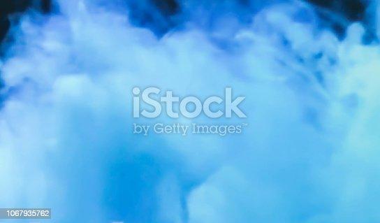 istock Blue Acrylic Ink in Water. Color Explosion. Paint Texture 1067935762