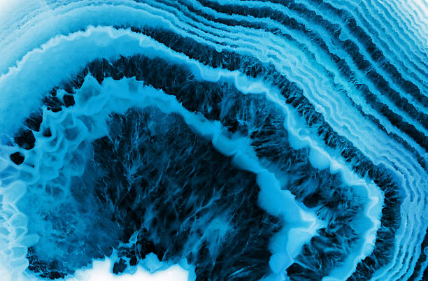 blue agate macro background background with blue agate structure mineral stock pictures, royalty-free photos & images