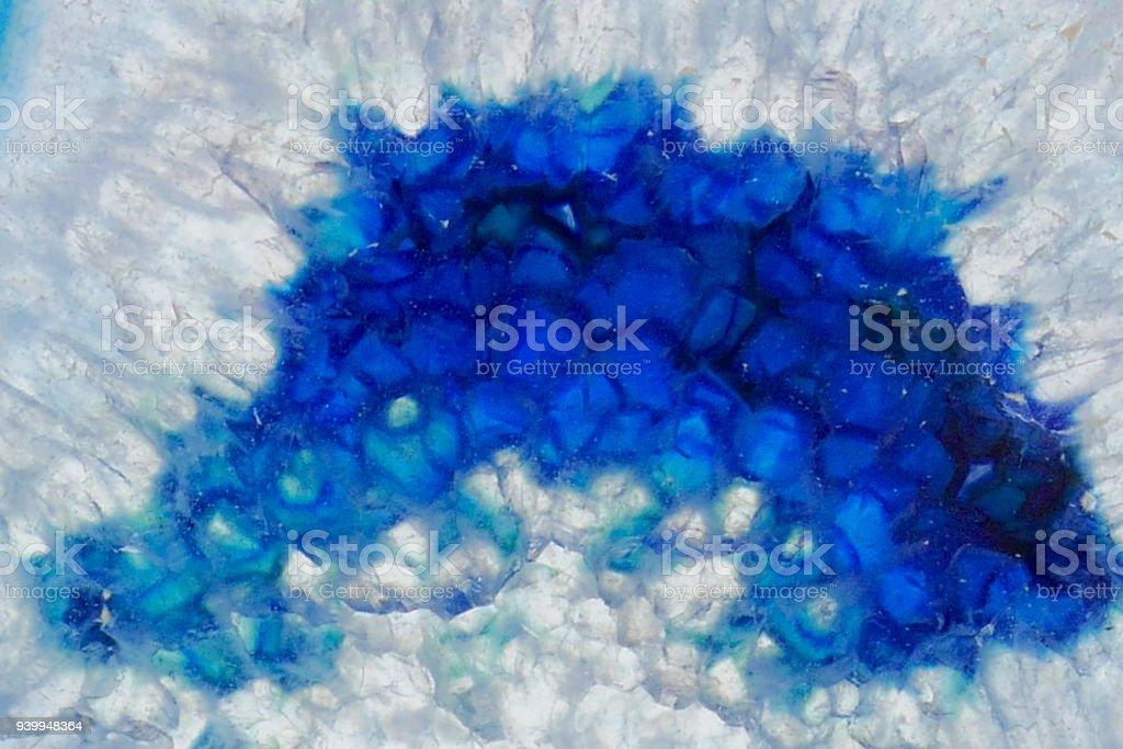 Blauer Achat Makro Blauer Achat Kristall Textureagate Hintergrund
