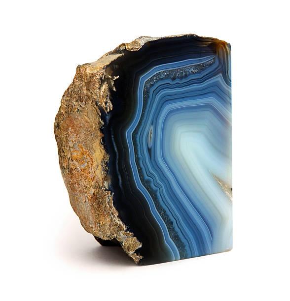 Blue Agate Rock stock photo