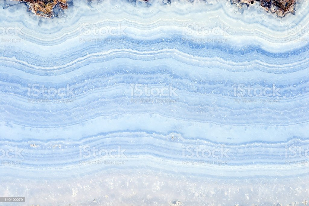 Blue agate slab stock photo