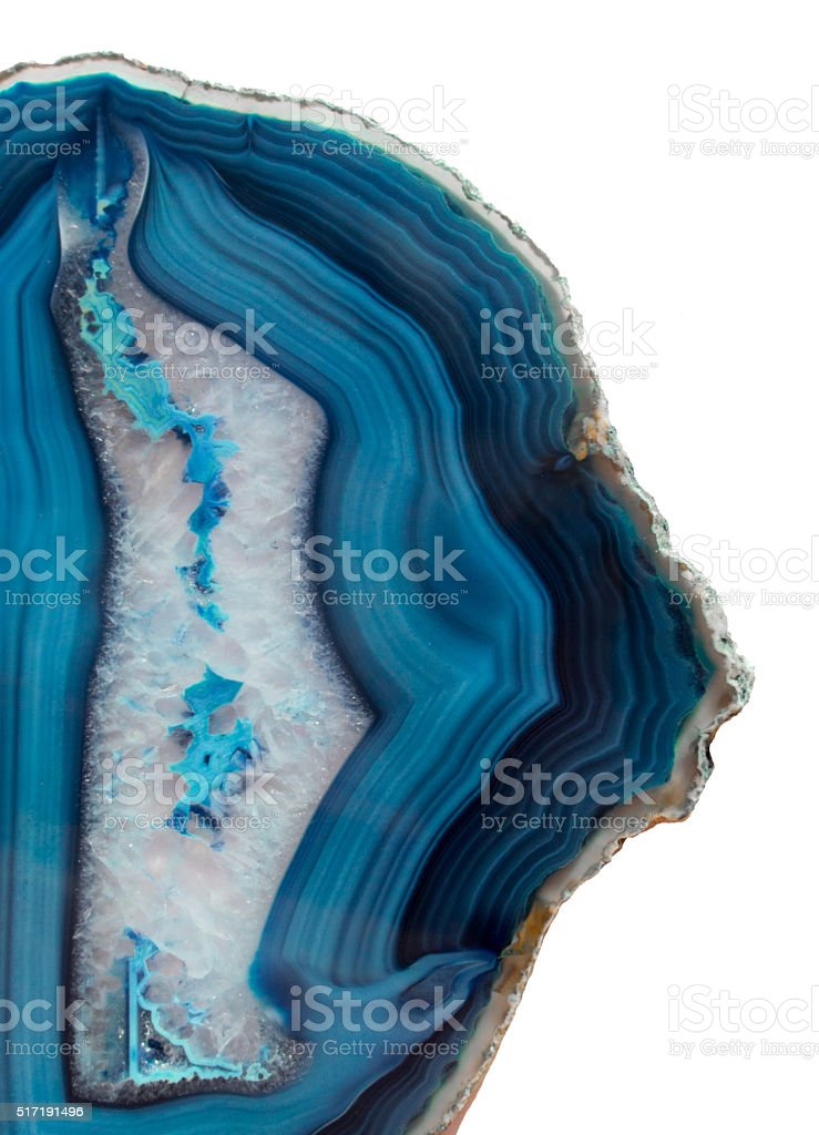 Blue Agate Slice stock photo