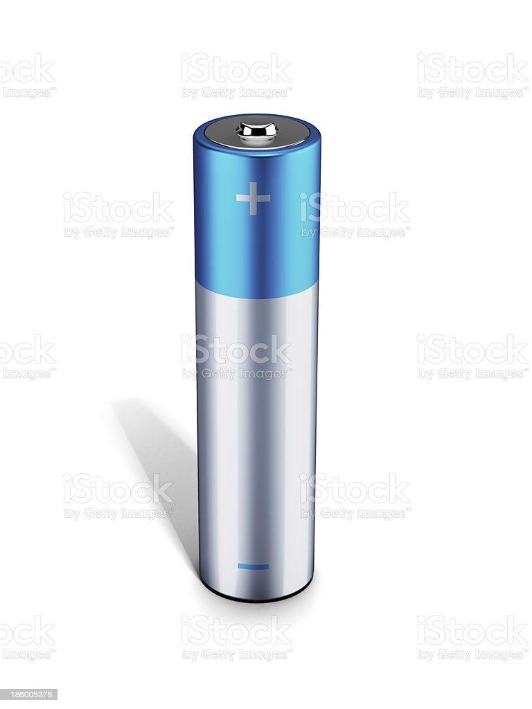 Blue alkaline battery stock photo
