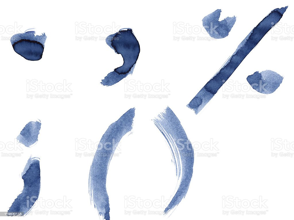 Blue alphabet royalty-free stock photo