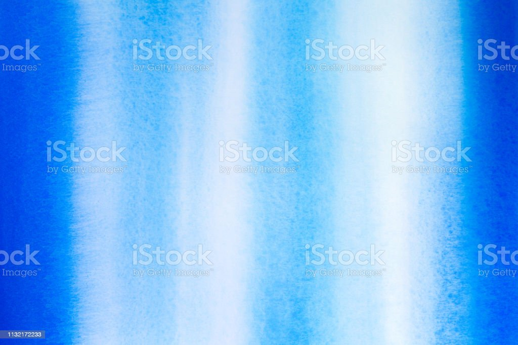 Blue and aqua watercolor stripes stock photo