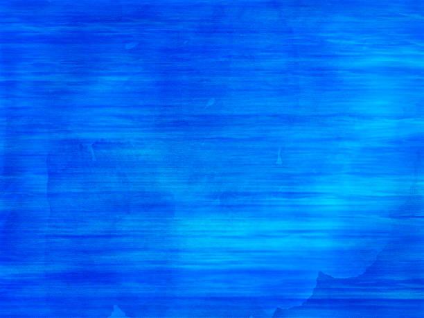 Blue and  aqua watercolor waves stock photo