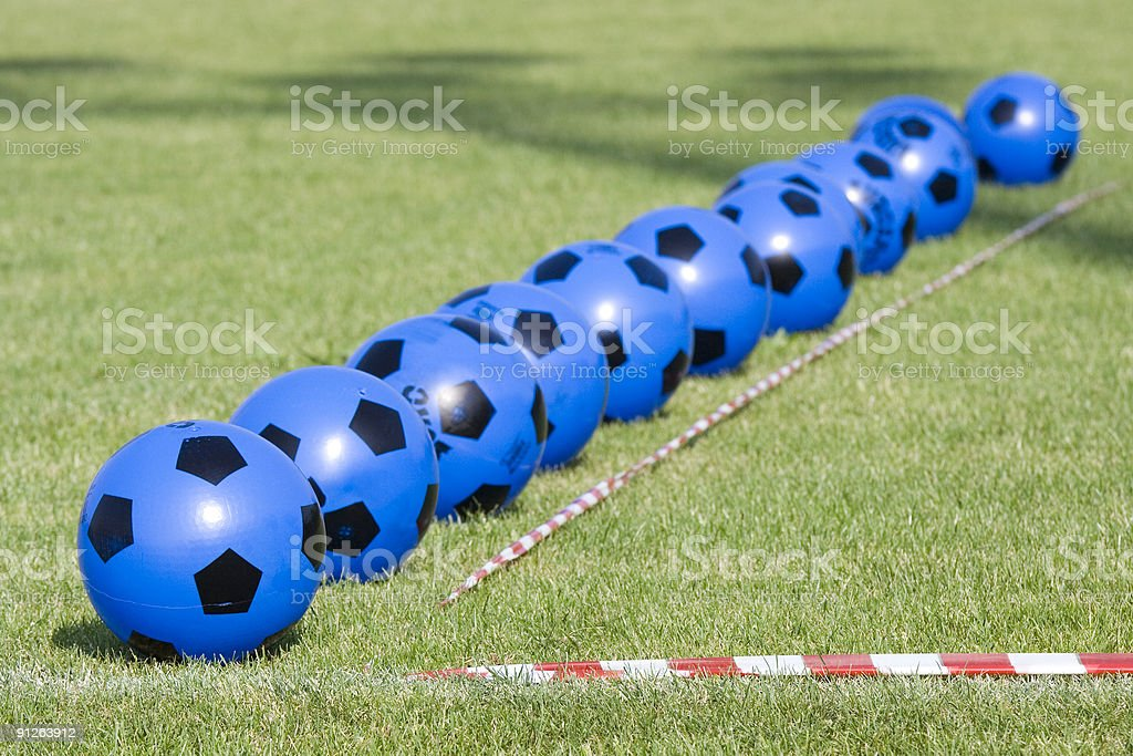 Blue and Black Balls #1 royalty-free stock photo
