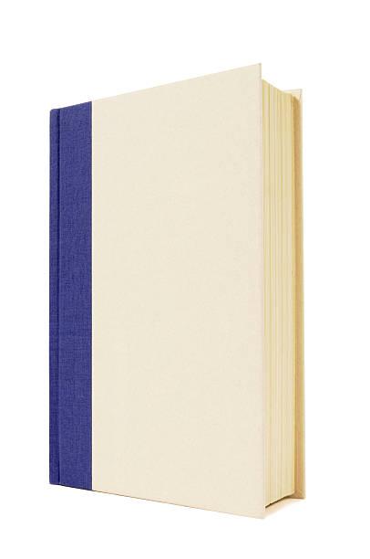 Libro de tapa dura de color azul y crema - foto de stock