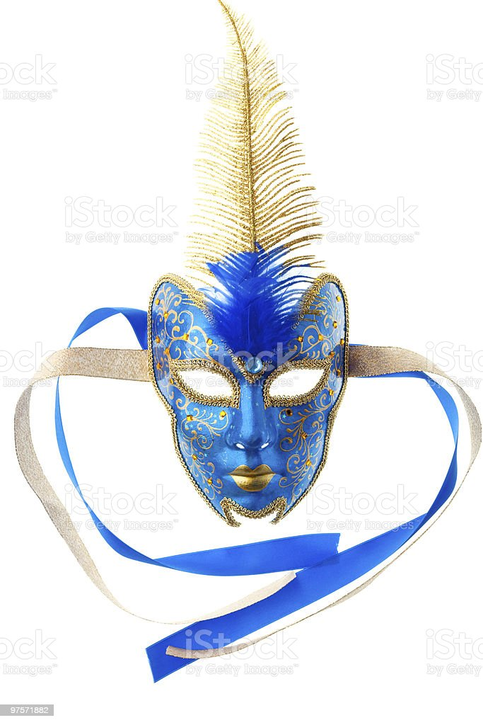 blue and gold mask royalty-free stock photo