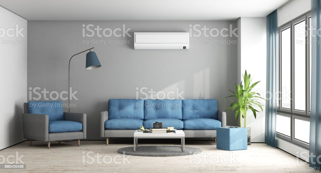 Blue and gray modern lounge - foto stock