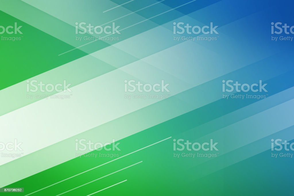 Blue and green background of abstract with white line square cross wave line overlay. stock photo