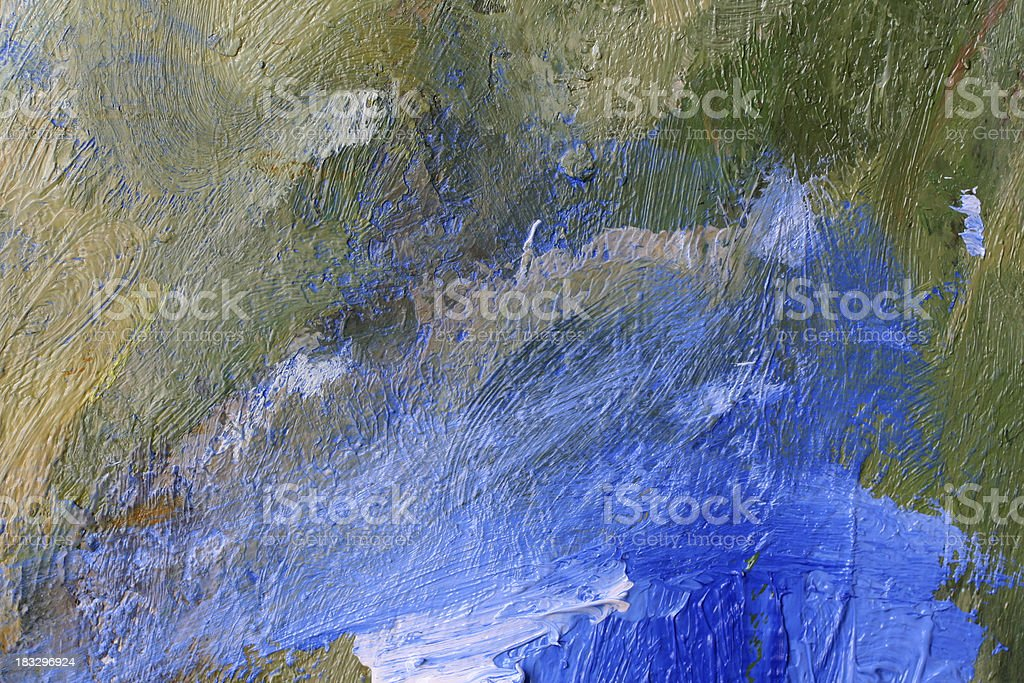 blue and green brush strokes royalty-free stock photo