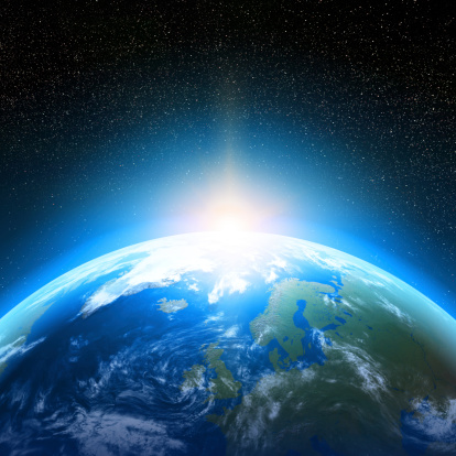 Blue And Green Image Of Earth From Space Stock Photo - Download Image Now