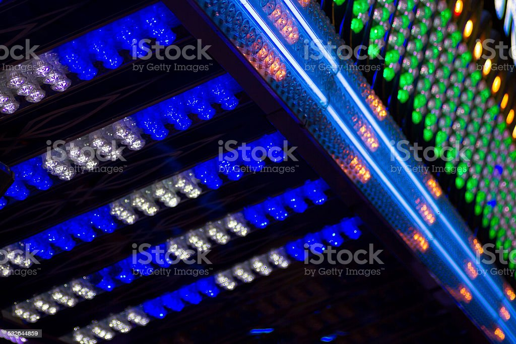blue and green lights stock photo