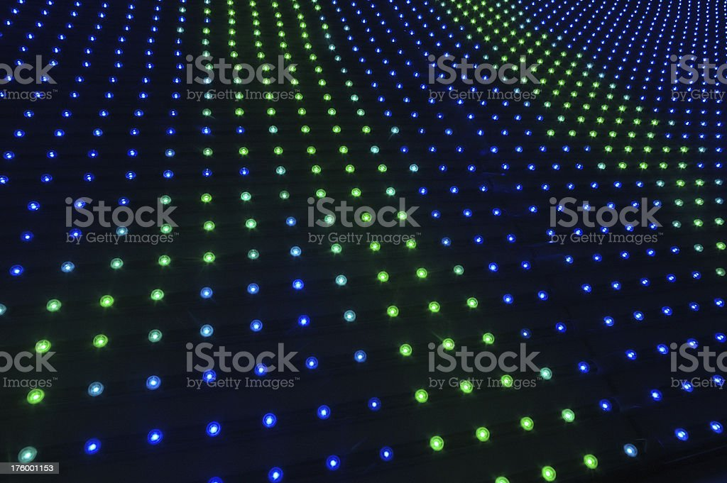 blue and green pin lights royalty-free stock photo