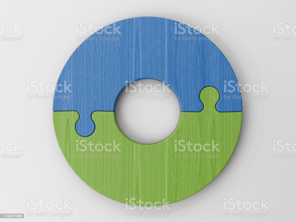 puzzle piezas para colocar sus conceptos con trazado de recorte - foto de stock
