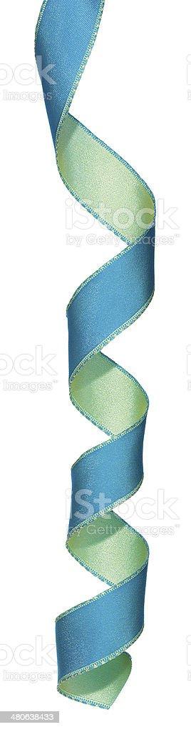 Blue and green ribbon stock photo