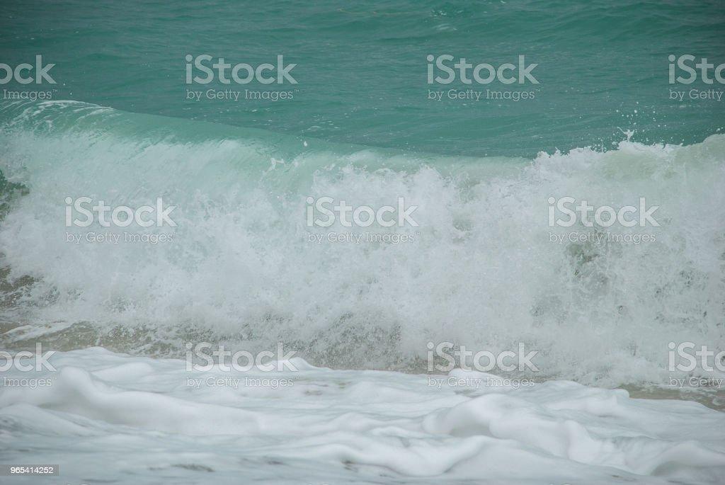 블루 및 그린 바다빛 - 로열티 프리 0명 스톡 사진