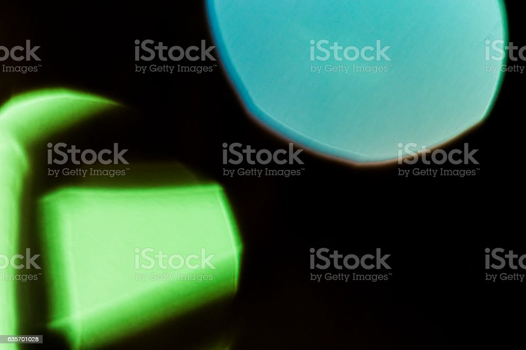 Blue and green spotlights abstract black background royalty-free stock photo