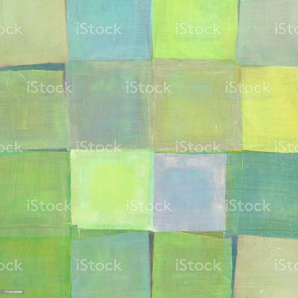 Blue and Green Squares royalty-free stock photo