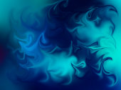 Blue and Green Swirly Abstract Background Art