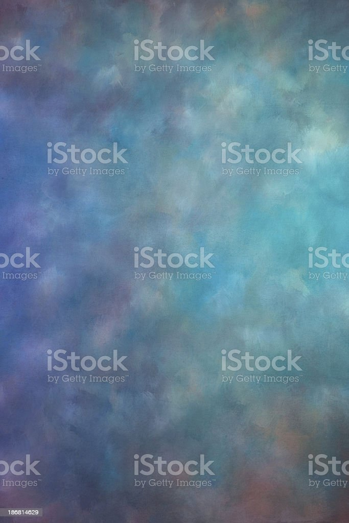 Blue and green textured studio backdrop royalty-free stock photo