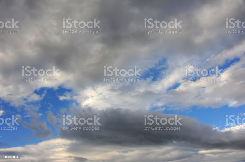 Blue and Grey Sky - Royalty-free Blue Stock Photo