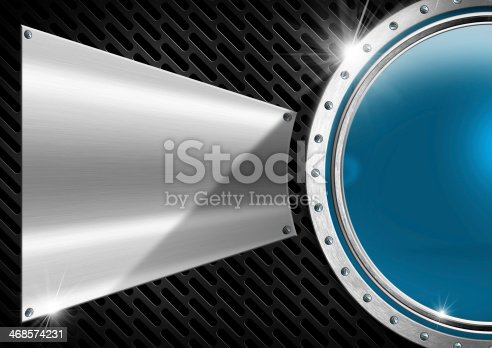 153984410 istock photo Blue and Metal Abstract Background 468574231