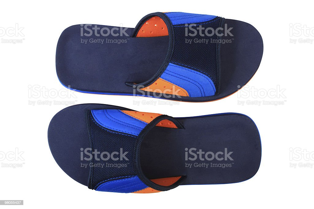 Blu e arancione pantofole foto stock royalty-free