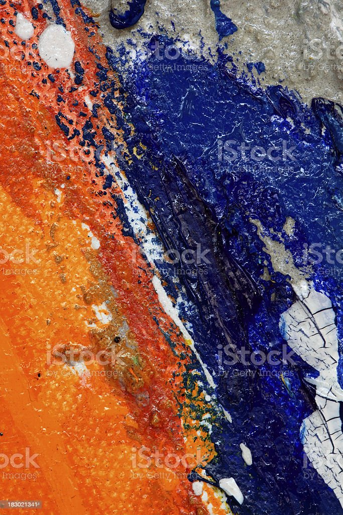 Blue and orange on canvas royalty-free stock photo