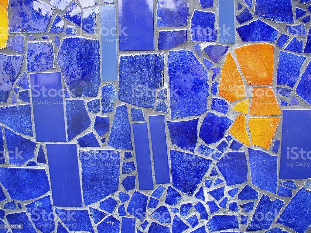 Blue and orange royalty-free stock photo