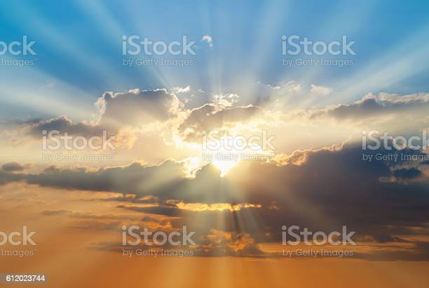 Photo of Blue and orange sunset sky