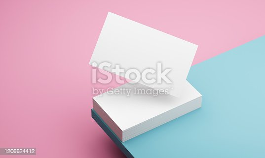 istock blue and pink backgroundbusiness 3d illustration 1206624412