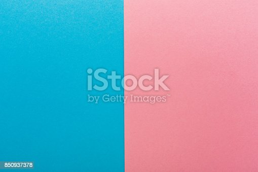 istock Blue and pink contrast background 850937378