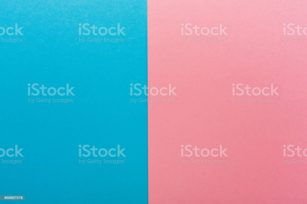 Blue and pink contrast background stock photo