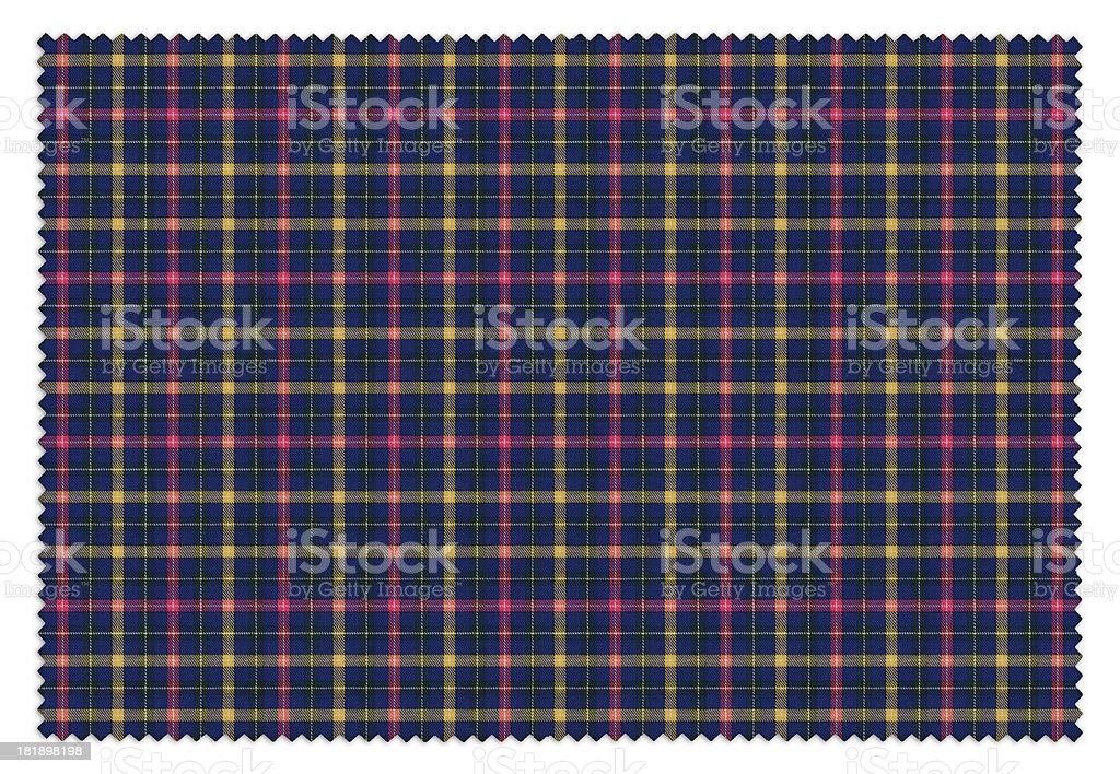 Blue and Pink Gingham Tablecloth Swatch stock photo