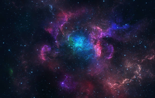 Blue and pink nebula Beautiful blue and pink nebula with stars. nebula stock pictures, royalty-free photos & images