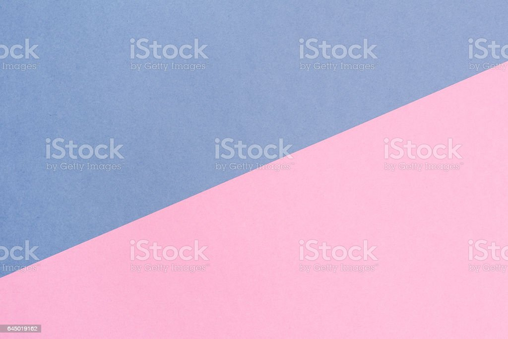 blue and pink pastel background. Top view. stock photo