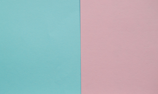 istock Blue and pink pastel color paper geometric flat lay two backgrounds side by side 1138184477
