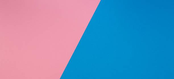 Blau und rosa Zwei-Ton Diagonale abgewichpften Farbpapier-Hintergrund – Foto