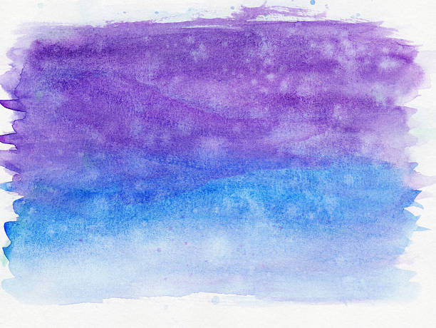 Blue and purple brush strokes isolated on white background