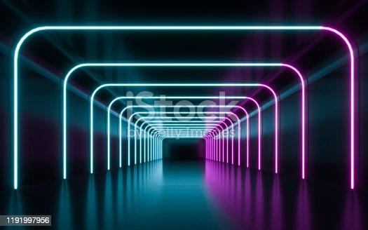 1043738824 istock photo Blue and purple neon 1191997956